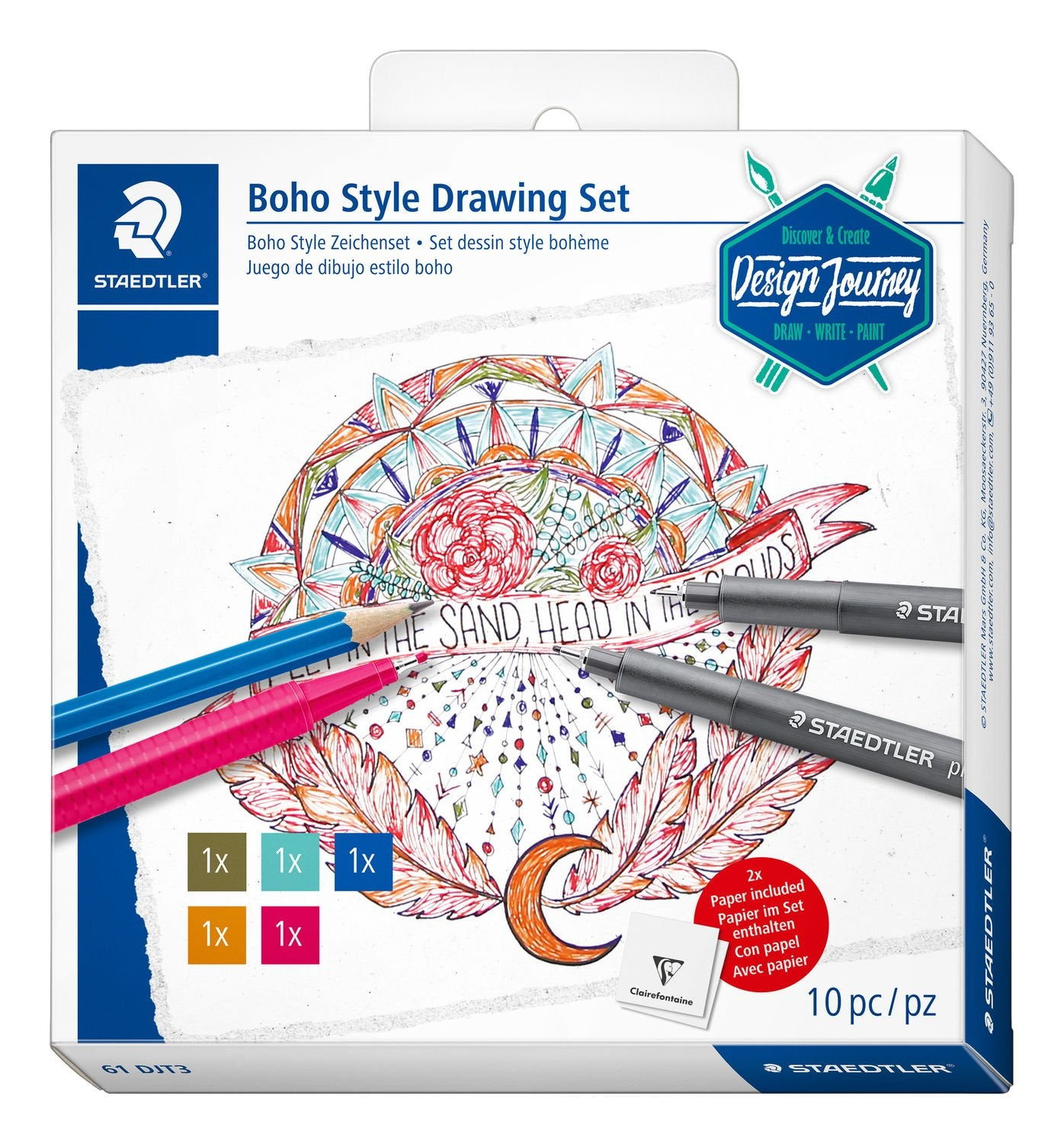 Staedtler Boho Style Drawing Set 61 DJT3