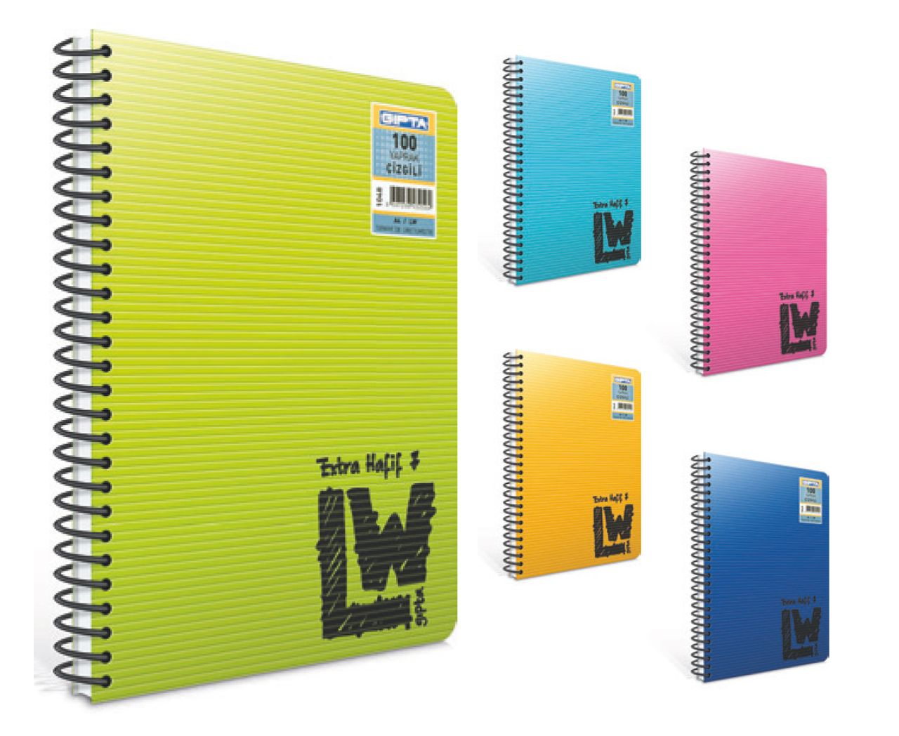 Gipta Notebook LW - A5 - 100 Sheets - Ruled =