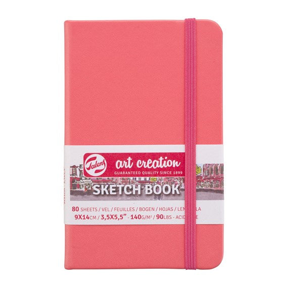 Art Creation Sketchbook Coral Red 9x14
