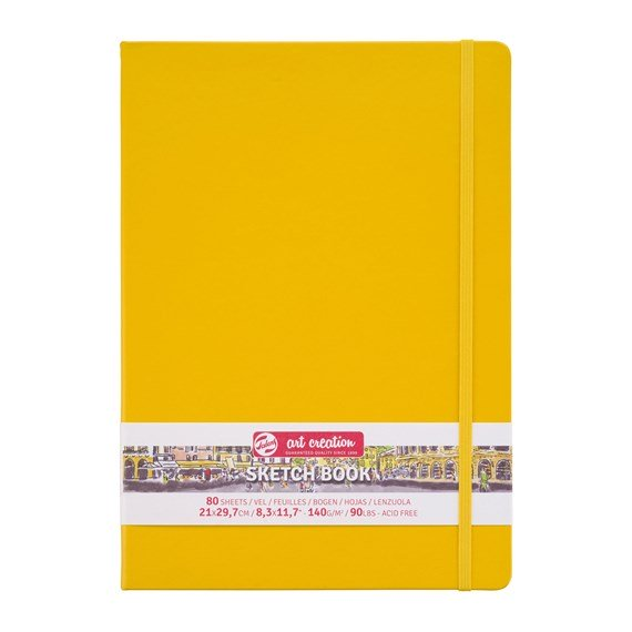 Art Creation Sketchbook Golden Yellow 21x30
