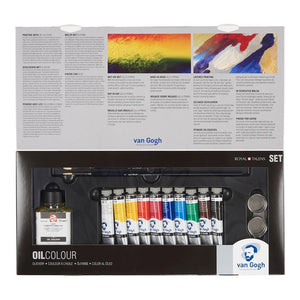 Van Gogh Oil Colour Advanced Set with 10 Colours in 20ml Tube + Accessories 02820415