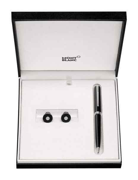 Montblanc PIX SET - Ballpoint Pen and Cufflinks 117598 - Black