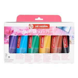 Art Creation Acrylic Colour Set 12 x Tube 75ml