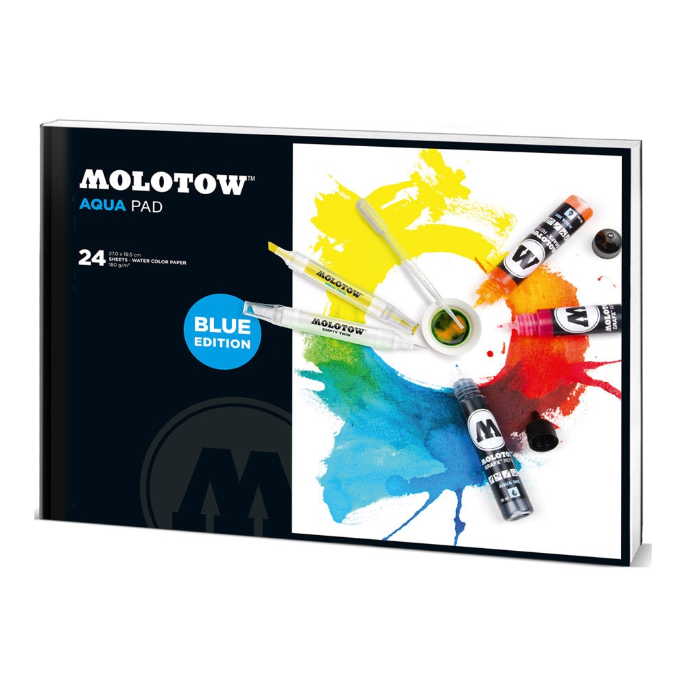 Molotow Sketchbook Aqua Marker Pad - Blue Edition