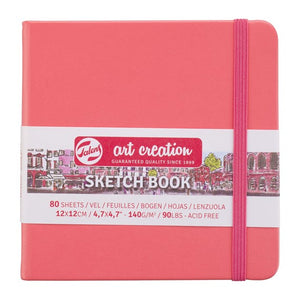 Art Creation Sketchbook Coral Red 12x12