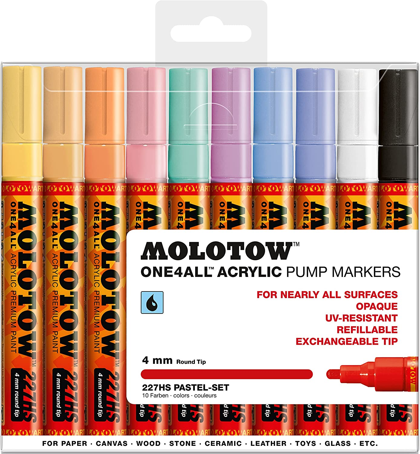 Molotow Acrylic Marker 4mm 1/10 set 458