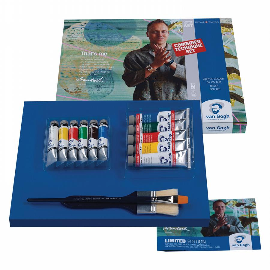 Van Gogh LIMITED EDITION SET - Acrylic/Oil/Brush/Spalter