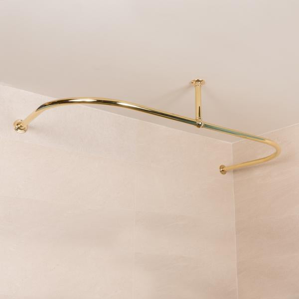 Rutland London Bromley Shower Curtain Rail