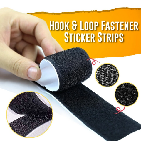 StickOn - Self Adhesive Hook & Loop Fastener Sticker Strip - Gear Tree