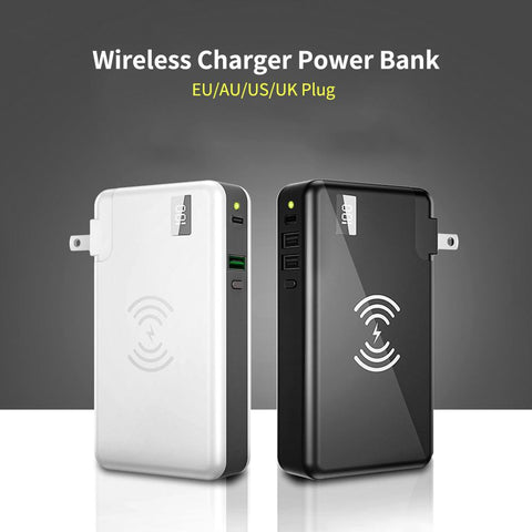 PowerPad - 3 In 1 Wall Charger and Wireless Power Bank Station - Gear Tree