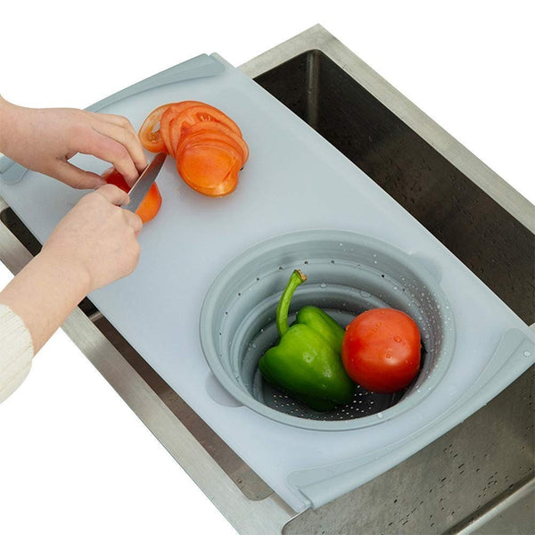 Multifunctional 3-in-1 Chopping Board Strainer - Gear Tree
