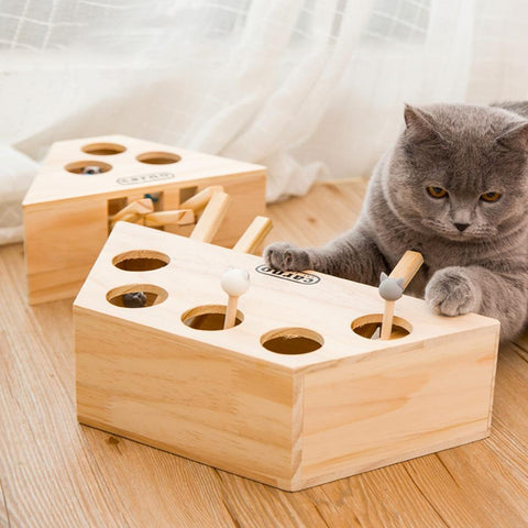 #1 Wooden Cat Whack - Gear Tree
