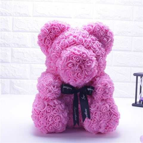 Handmade Rose Teddy Bear - Gear Tree