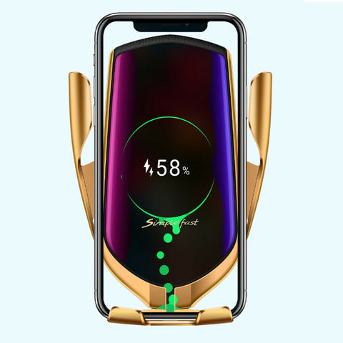 Automatic Clamping Wireless Charging Car Phone Holder - Gear Tree