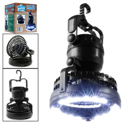 2 in 1 Portable Camping Tent Fan & LED Lantern - Gear Tree