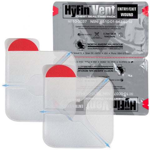 HyFin Vent Chest Seal 2 Pack - Tact-Med Info, LLC
