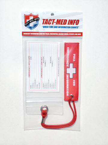 Pocket Size Tact-Med Emergency Info Card