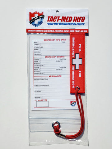 Tact-Med Emergency Information Card