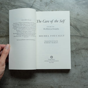 The History of Sexuality, Vol. 3 The Care of the Self | Michel Foucault