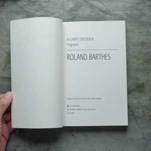 A Lover's Discourse: Fragments | Roland Barthes