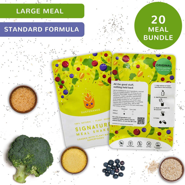 Signature Shakes | Large | Bundle of 20 - Sustenance meal replacements