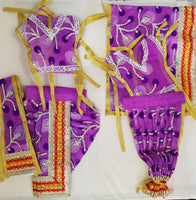 "7"" Radha Krishna outfit Set in Purple net material"