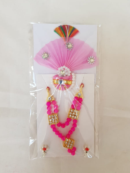Shriji Moti Kanth Shringar set with cotton paag