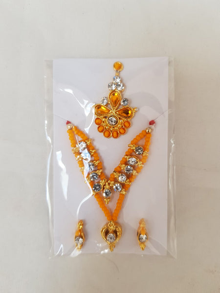 Shriji Kanth Shringar set with Casting stone work