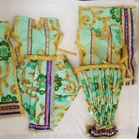 "7"" Radha Krishna outfit Set in Mint Green colour"