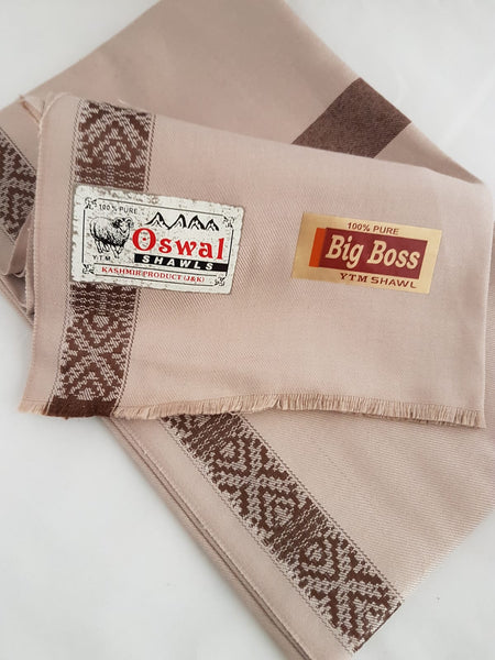 100% Wool Indian Kashmir hand embroidery mens Shawl Wrap