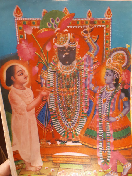 Hindu vintage print of shrinathji by Bombay Glass House