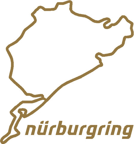 Nurburgring race track vinyl sticker / decal x 1 of