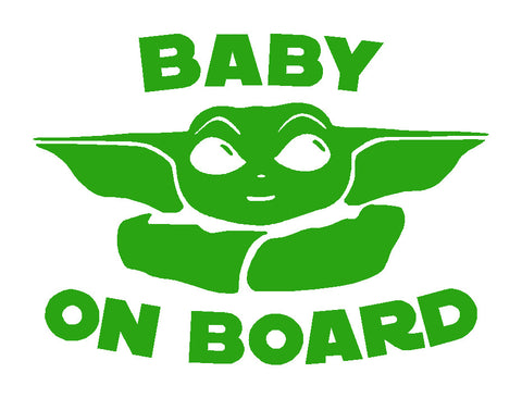 Baby on Board / Baby Yoda / Mandalorian vinyl sticker / decal x 1 of