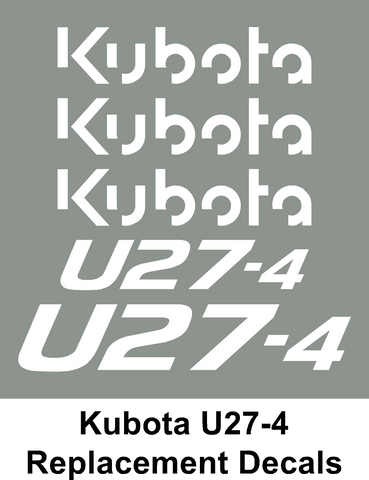 Kubota U27-4 Digger / Plant set of vinyl sticker decals