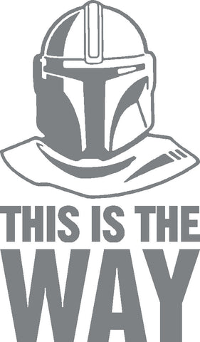 Mandalorian Helmet - This is the Way vinyl sticker / decal x 1 of