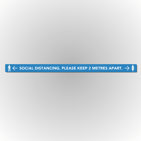 Set of 2 Social Distancing Floor Sticker - Please keep 2m / 6ft apart