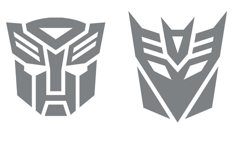 Transformers Autobot & Decepticon vinyl sticker / decal x 1 set