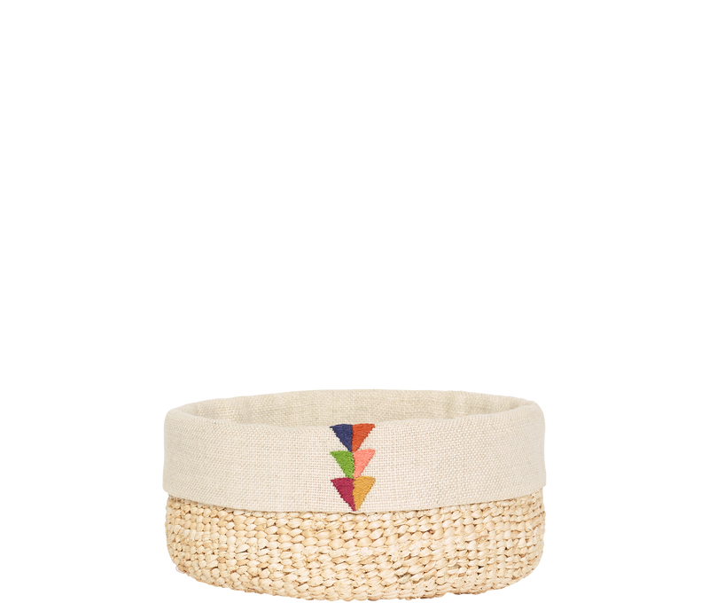 Home Decor Partial Embroidery / Small Banana Leaf Basket