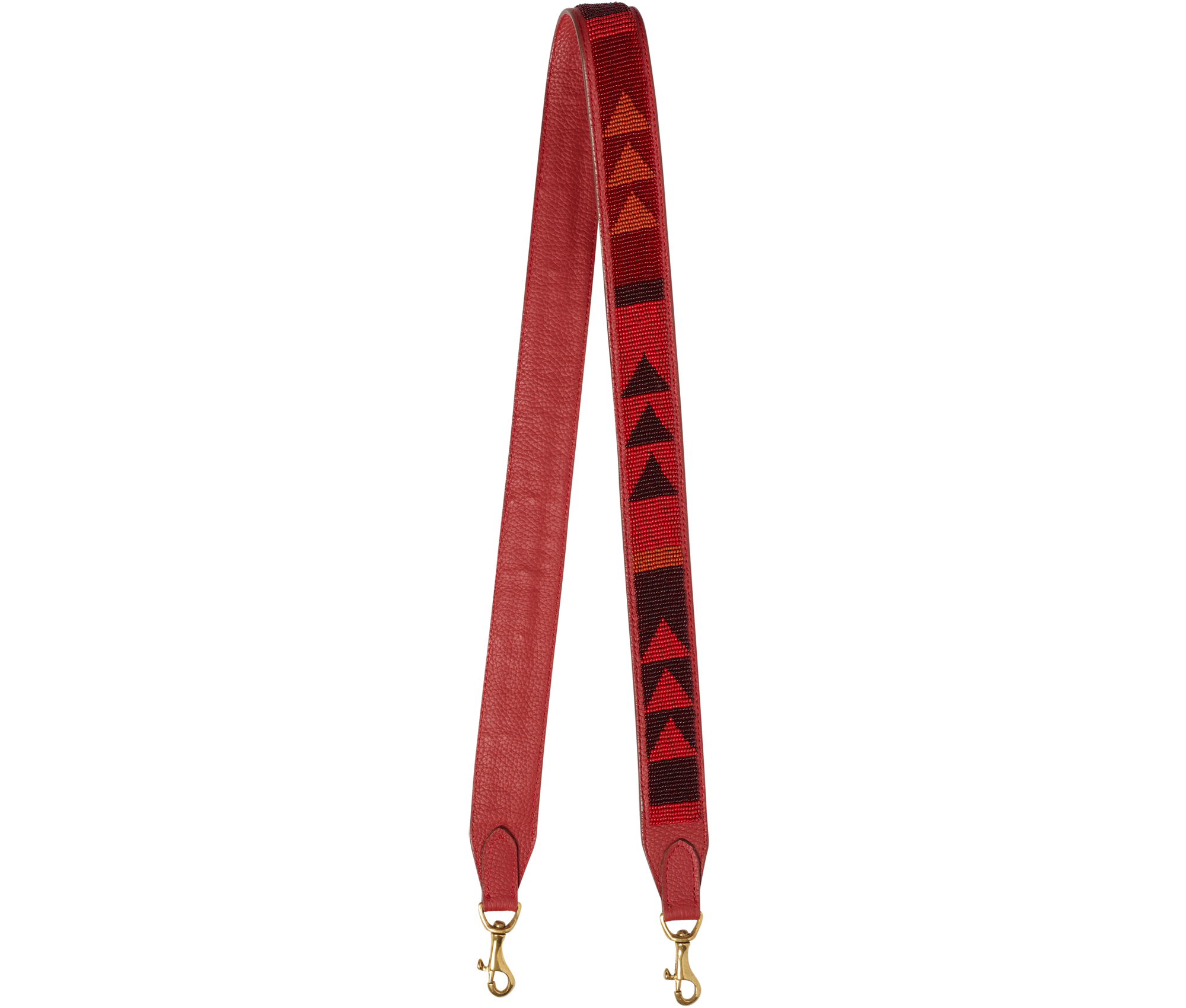 Accessories Red Beaded Bag Strap