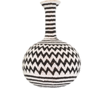 Load image into Gallery viewer, Home Decor Black and White ZigZag Beaded Calabash