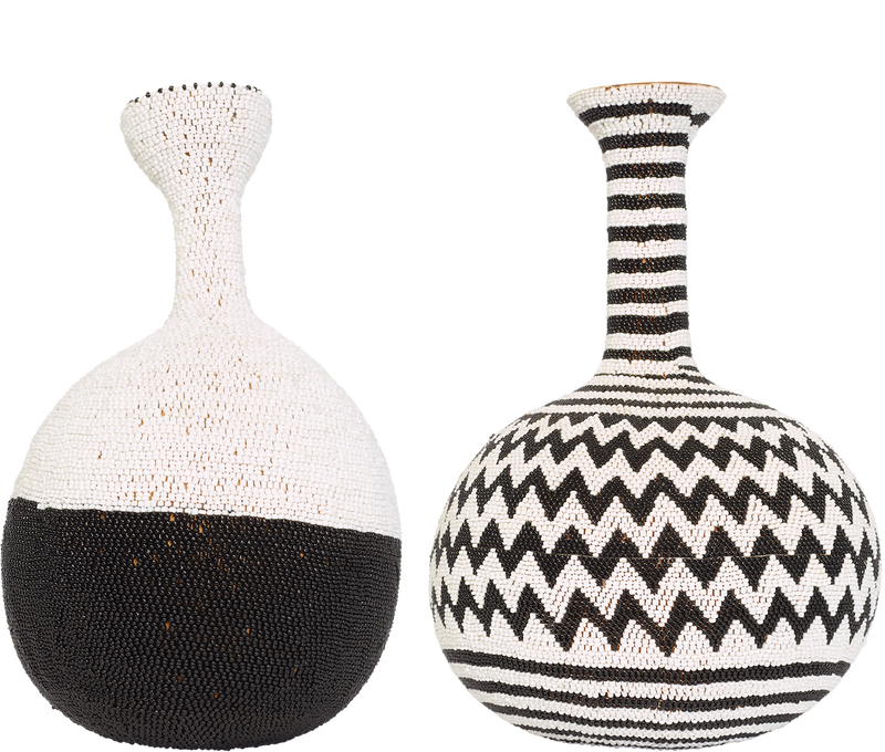Home Decor Beaded Calabash