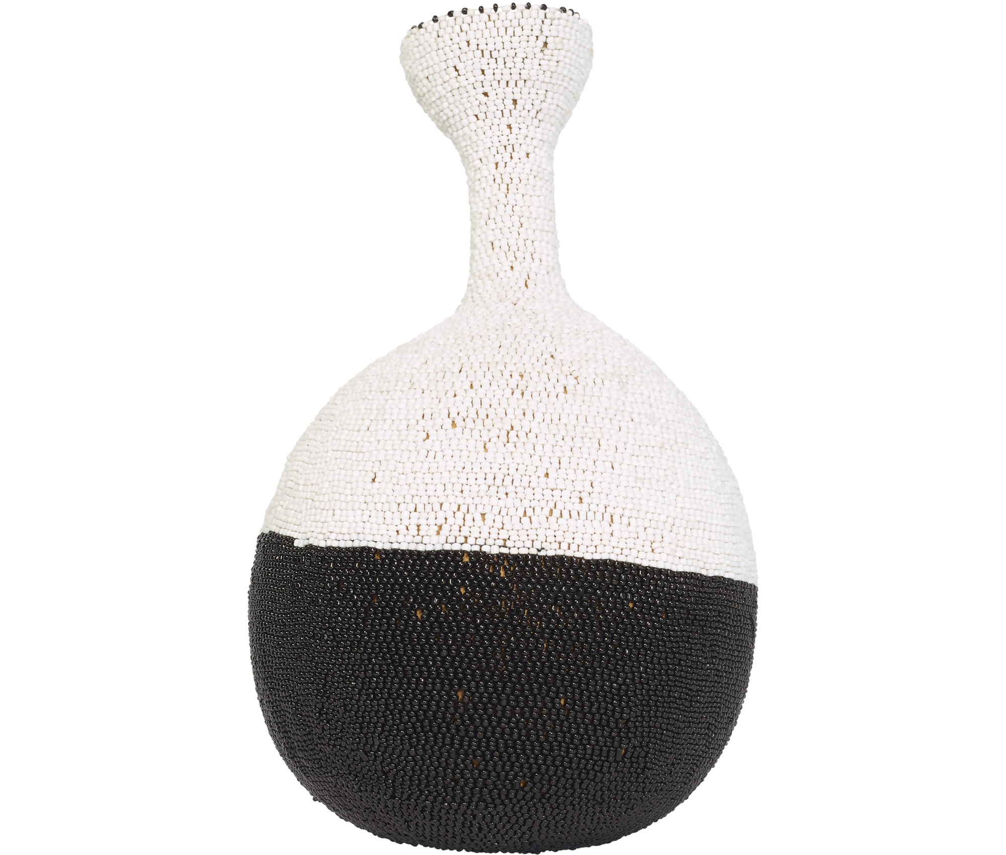Home Decor Black Beaded Calabash