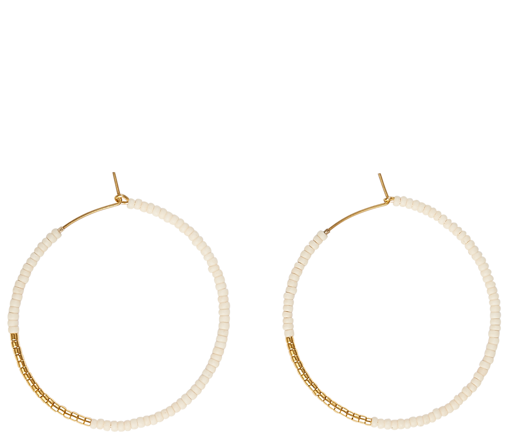 Jewelry Beaded Hoops