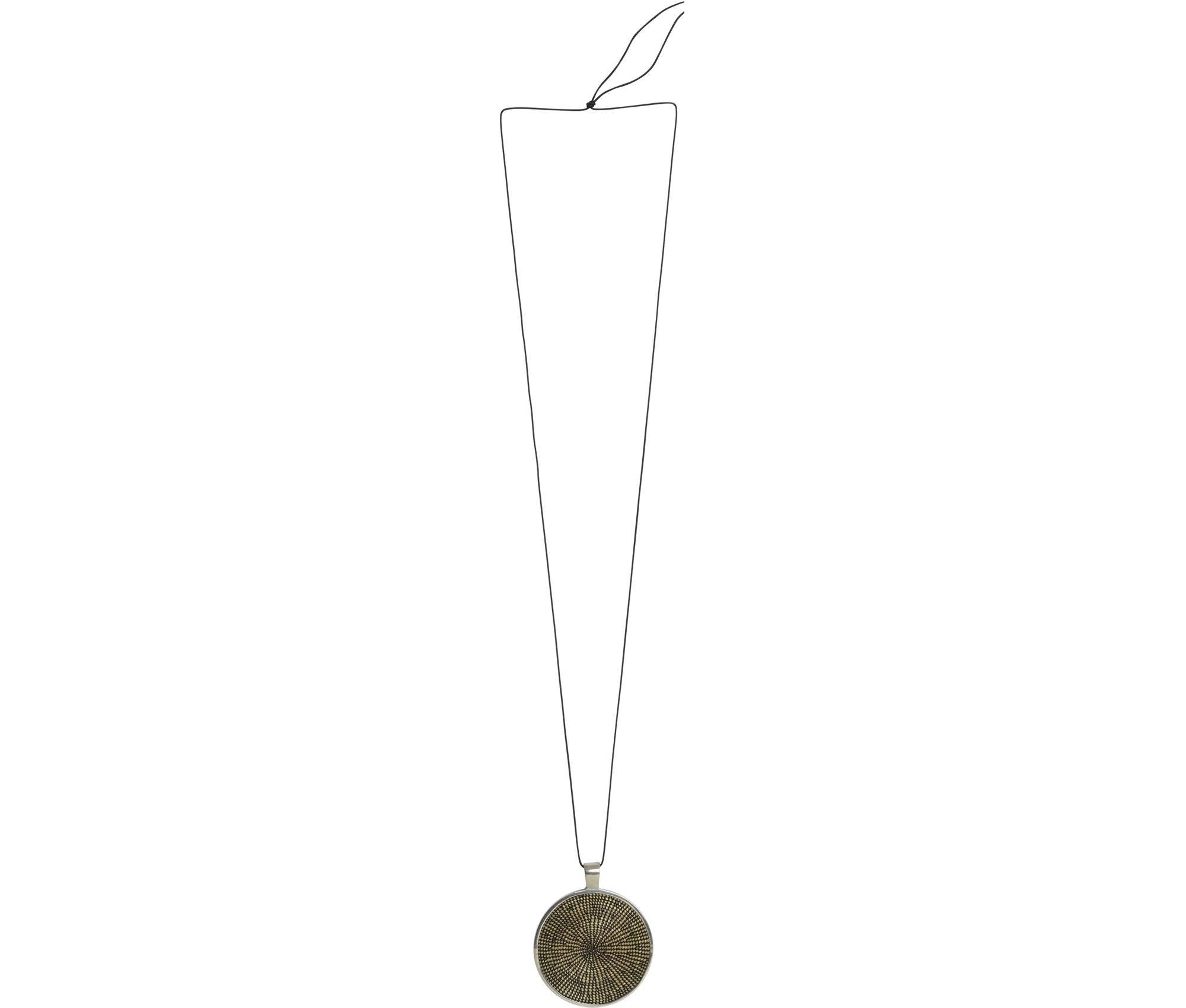 Jewelry Black Disk Necklace