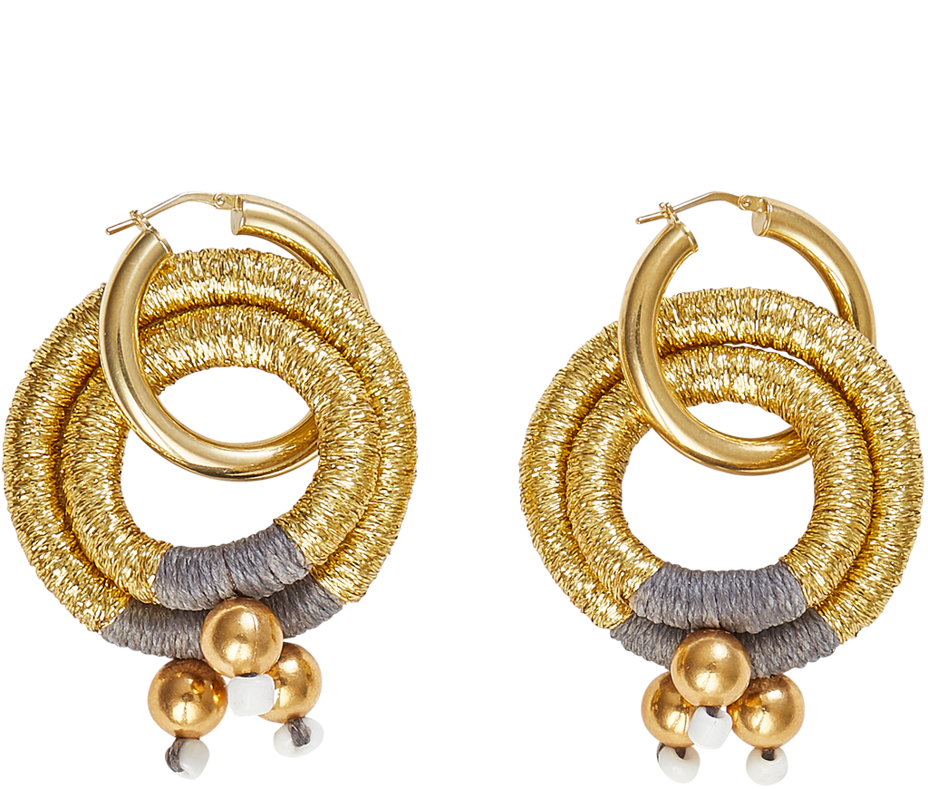 Jewelry Gold Double Hoop Earrings