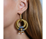 Load image into Gallery viewer, Jewelry Gold Double Hoop Earrings
