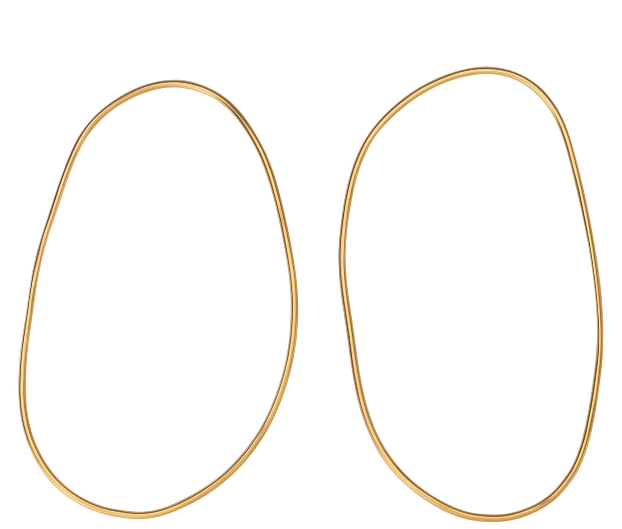 Jewelry Gold Irregular Circle Earrings