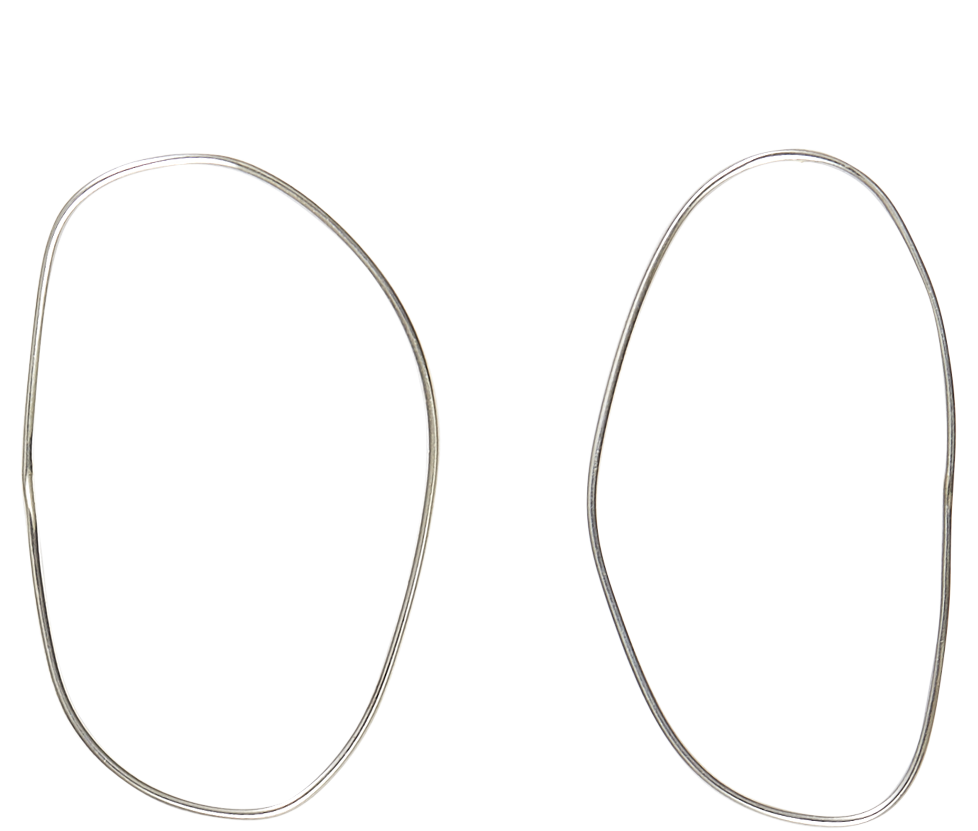 Jewelry Silver Irregular Circle Earrings