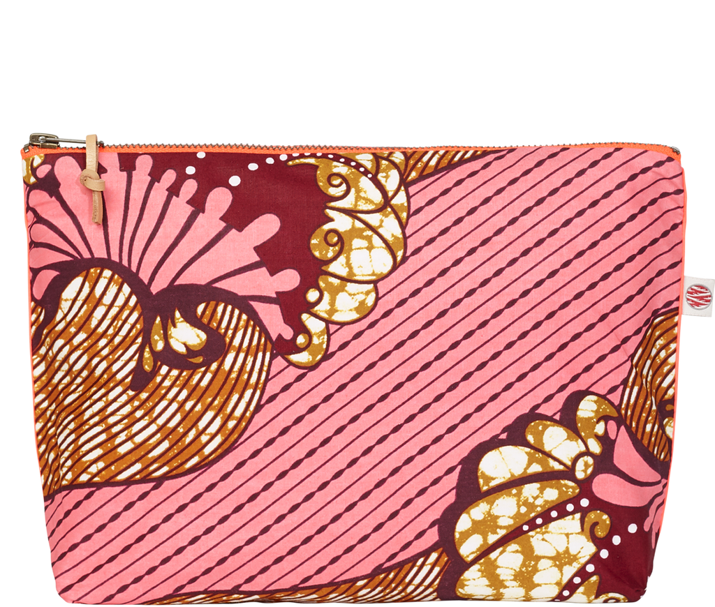 Accessories Pink Large Kitenge Pouch
