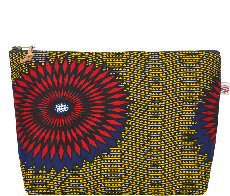 Accessories Blue and Red Large Kitenge Pouch